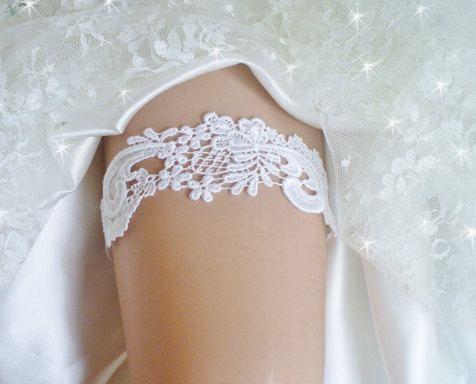 Wedding Garter White Venise Lace Bridal Belt Garder By