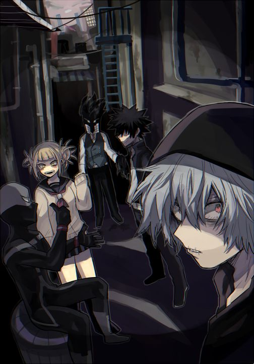 Boku no Hero Academia    Himiko Toga, Black Mist, Dabi, Shigaraki Tomura.