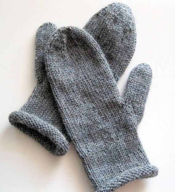 Alpaca Mittens Knitting Pattern : Knit mittens, hand knitted, warm, Alpaca Merino, womens mittens, handmade W...