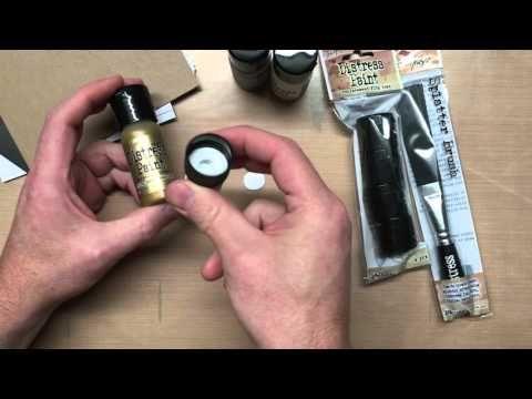 Tim Holtz introduces New Distress Accessories: Distress Paint Replacement Flip Tops & Distress Splatter Brush from Ranger...