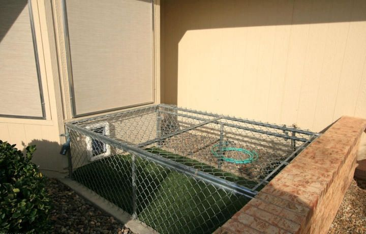 Coyote proof dog run for small dogs!  Gotta have it on the Eastern Plains of Colorado!