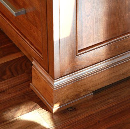 cherry wood proud kick on island kitchen cabinets moldings kitchens details. Black Bedroom Furniture Sets. Home Design Ideas