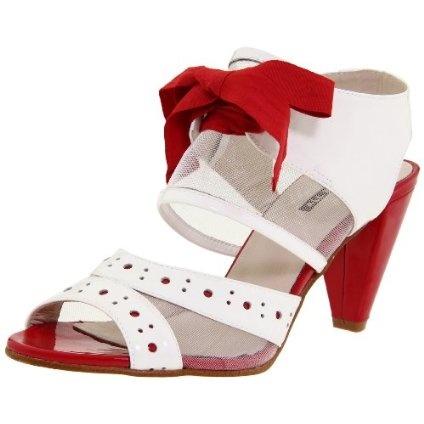 ALL BLACK Women`s Surprise Ankle-Strap Sandal,White,40.5 EU/10 M US $112.00
