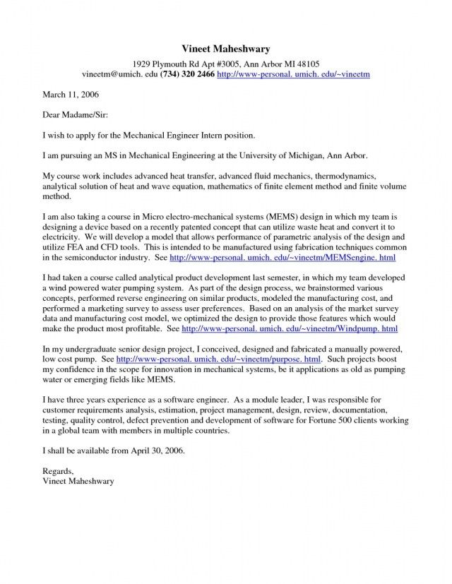 23+ Engineering Cover Letter Examples | Cover Letter Resume ...