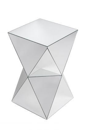 such a cool mirrored side table from Exhibit Interiors!