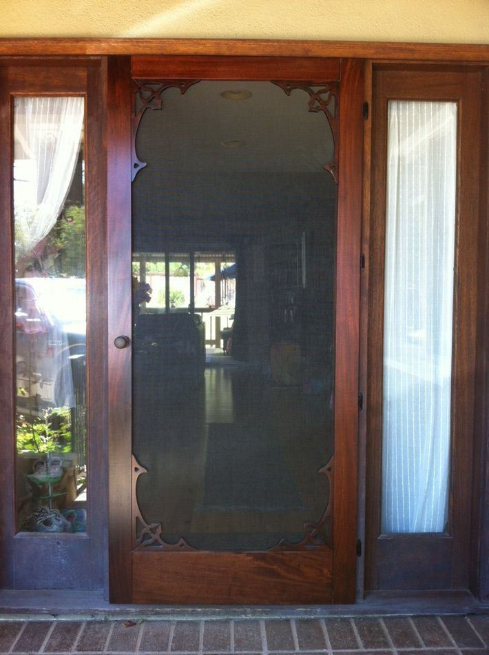 Wood Storm Doors : Ideas about wood screen door on pinterest