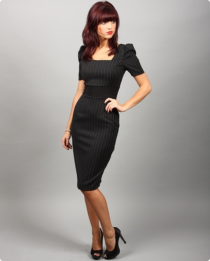 Diva catwalk pinstripe dress author attire pinterest for Diva attire