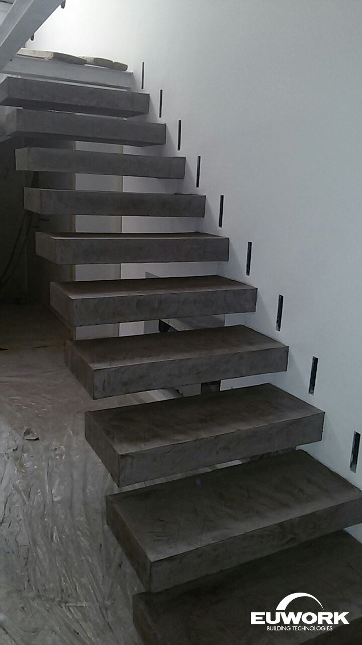 Euwork Living System / Steps in the interior of Private Villa @Messina, Italy Euwork Building Technologies www.euwork.it