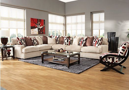 Shop For A Cindy Crawford Home Brighton Park 7 Pc Sectional Living Room At Rooms To Go Find Sets That Will Look Great In Your And