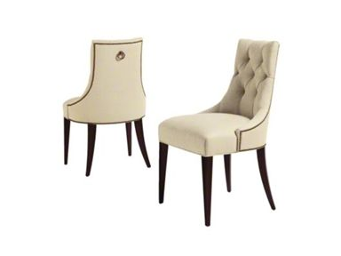Baker Furniture : Ritz Dining Chair   7841 : Thomas Pheasant : Game Table  Chairs Upholstered In Two Fabrics