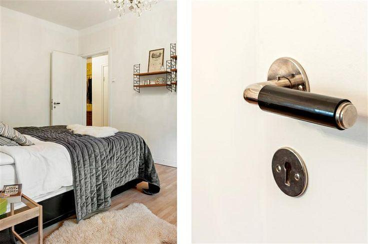 Bedroom at Norra Gubberogatan. Handels from Byggfabriken.