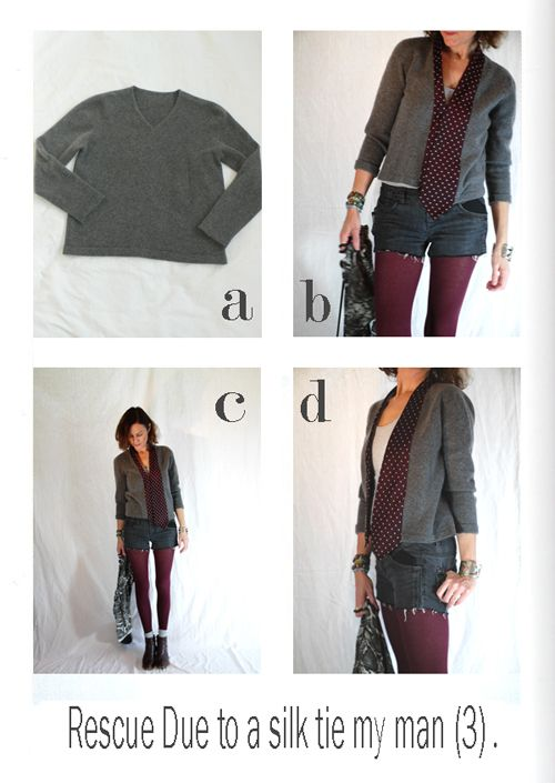 by sophie b. l'éco-design à la française: Fall winter 11 / 12 - Rescue of a too small sweater.