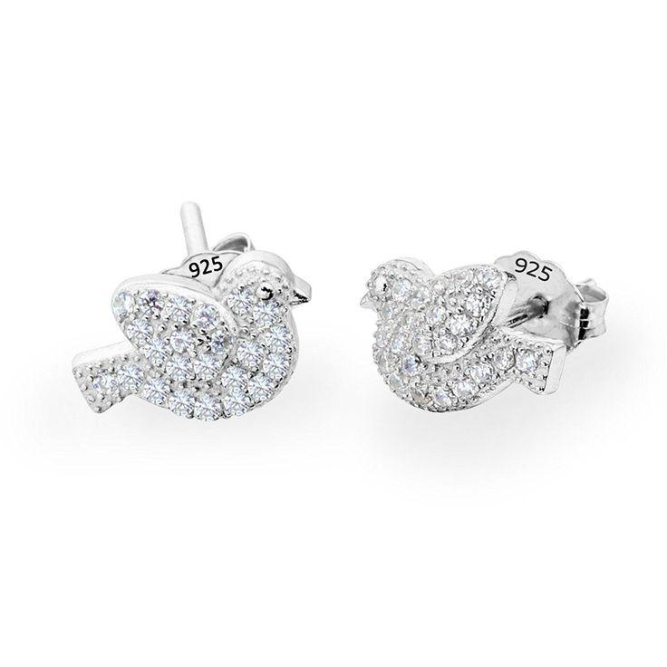 Meixao Sterling Silver Cross Stud Cubic Zirconia Earrings for Women c5h3KLVxFF