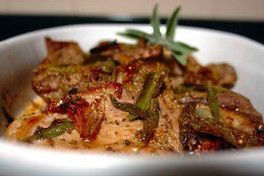 Cinco Quartos de Laranja: Costeletas de porco no forno com mel e sálvia