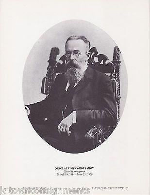 Nikolai Rimsky-Korsakov Composer Vintage Portrait Gallery Poster Photo Print