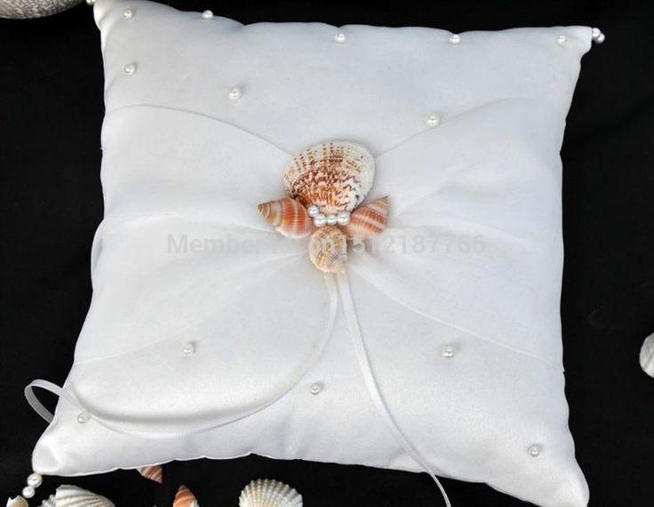 Conchiglia oceano lumaca di mare da sposa da sposa portatore dell'anello cuscino di raso 8 pollici in da su Aliexpress.com