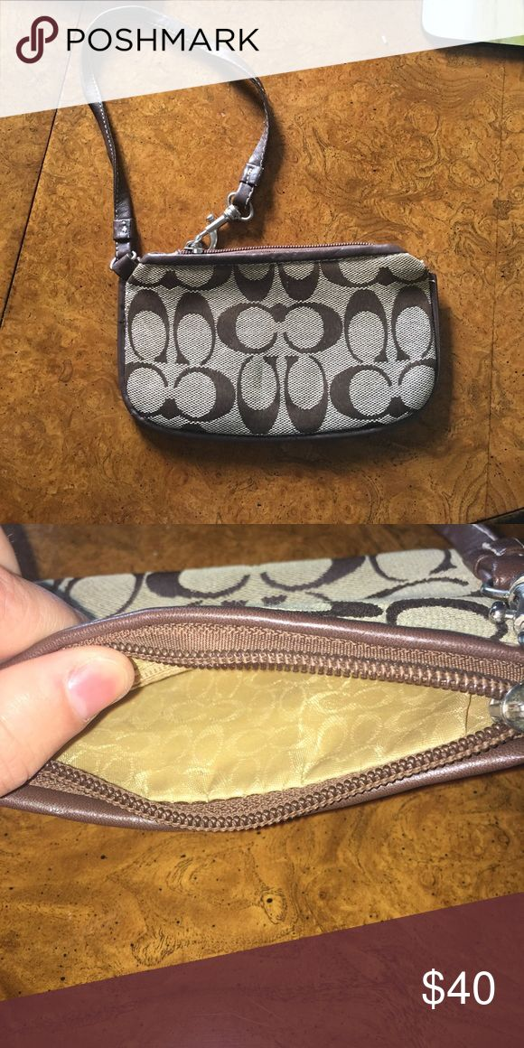 Coach Clutch Slightly used basic Coach Clutch. Coach Bags Clutches & Wristlets