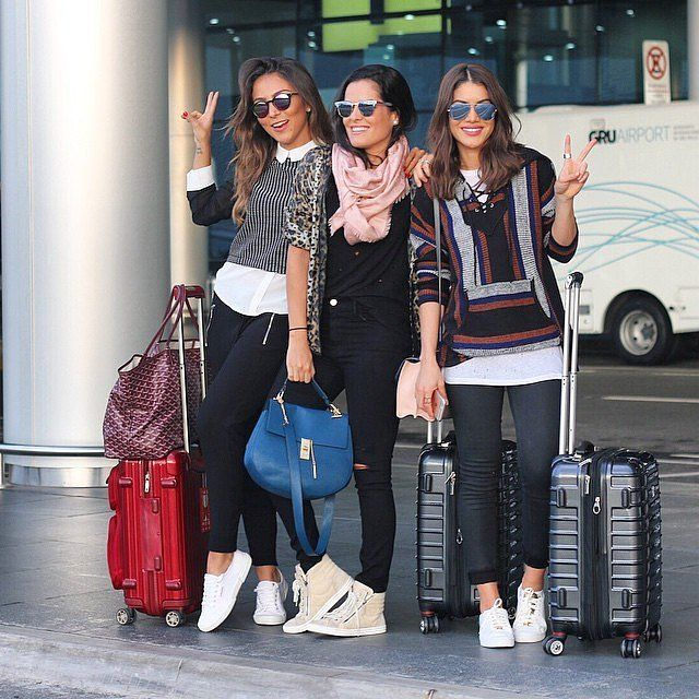 If there's one fashionable shoe we keep seeing again and again at the airport, it's the sneaker. We're not talking about the ones you wear running. Rather, it's the stylish kicks that pop up at Fashion Week or at industry events. Whether you go for white or a multicolored pair, your sneaker choice will make the outfit.