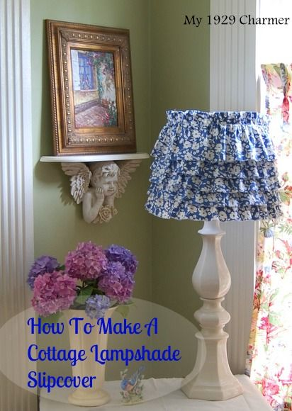 130 best lights lamps lamp shades and string lights images on how to make a cottage lampshade slipcover aloadofball Gallery