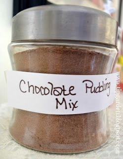 Make your own pudding dry mix - because the boxed stuff you buy is full of junk!