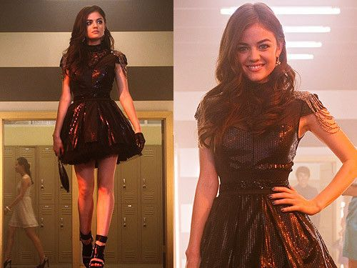 The Best Outfits From Pretty Little Liars | The Zoe Report-Love the shoulder cha…