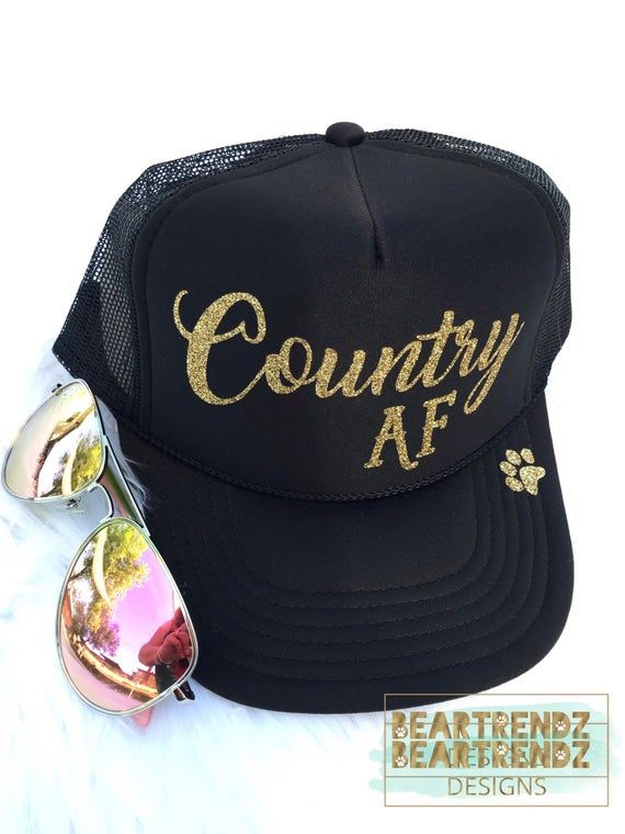 e5c34b47fbf Country AF Womens Trucker Hat, Summer Hat, Custom Trucker Hat ...