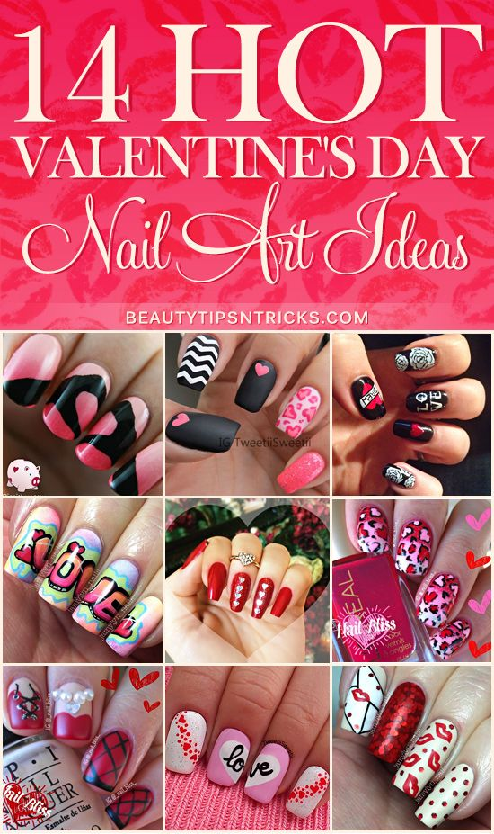 Romantic, cute, pretty, SEXY! These Valentine's Day nail art ideas will give you tons of inspiration for your own V-Day manicure.