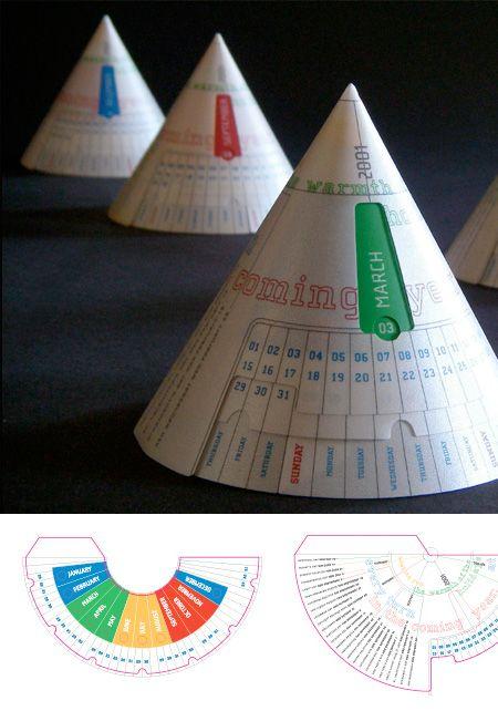 Calendario en forma de conos