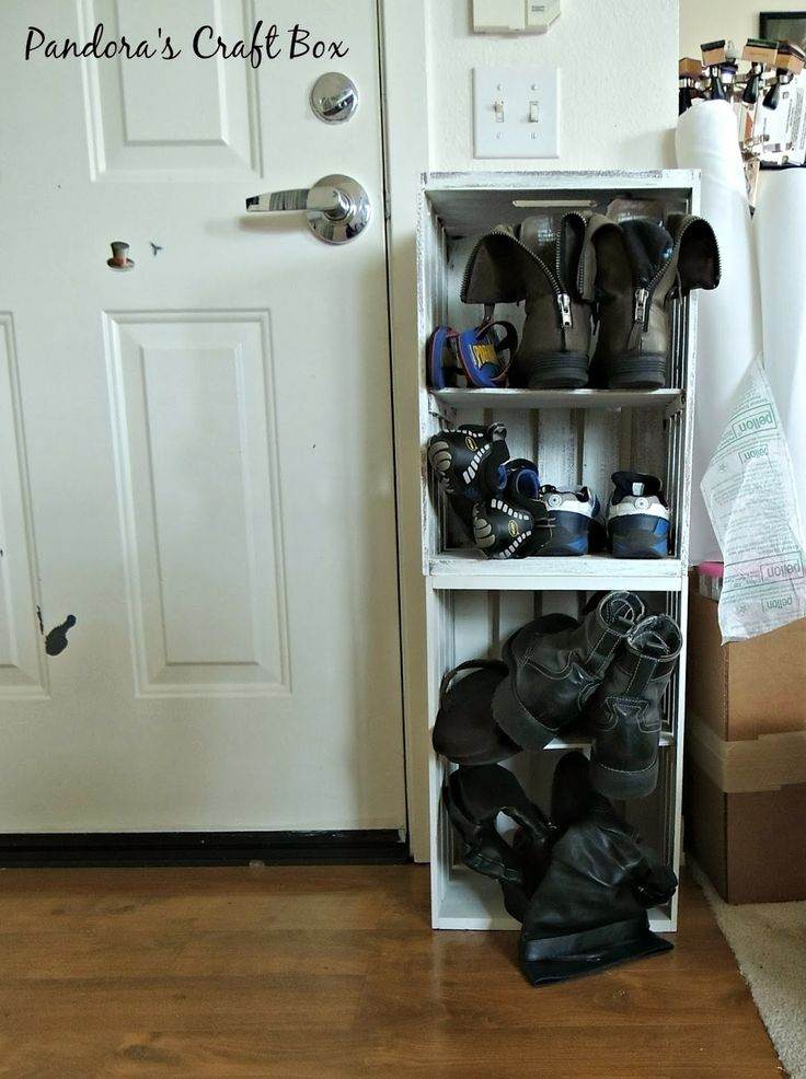 Shoe Storage Entryway Storage Mudroom Storage Crate
