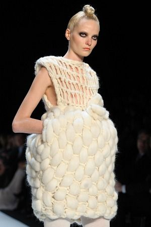 Sam Frenzel - sculptural textile fashion design - garment construction, structure #art