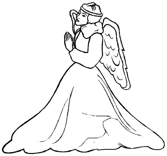 Christmas Angel Dancing Coloring Pages For Kids Printable Angels