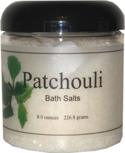 Bath Salts - Patchouli, 16 Ounces by Eclectic Lady. $12.00. Preservative Free. Dye Free. 16 Ounces. Close your eyes and relax in a warm bath with our bath salts. The bath salts come with a scoop for easy measuring. Patchouli is a classic earthy fragrance.