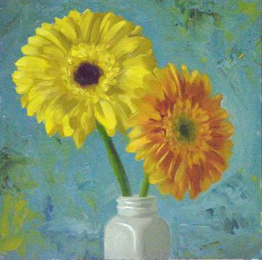 27 best Gerbera paintings images on Pinterest   Daisy painting ...