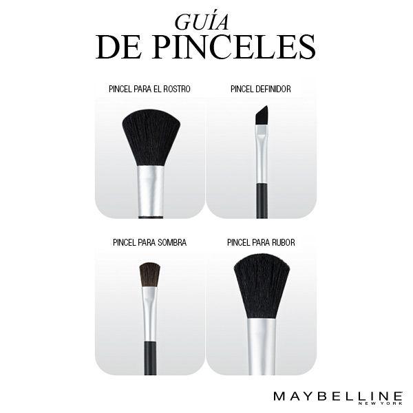 Cada pincel tiene un uso particular ¡Descubrilo! #Tips #MakeUp #MNYArgentina