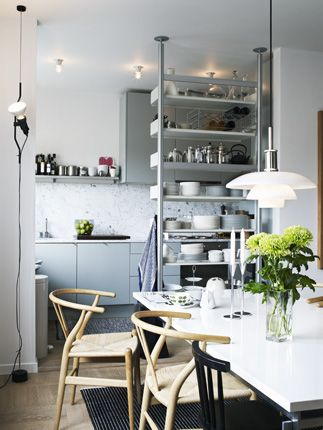 The New Hues: Blue, Grey & Green in the Kitchen