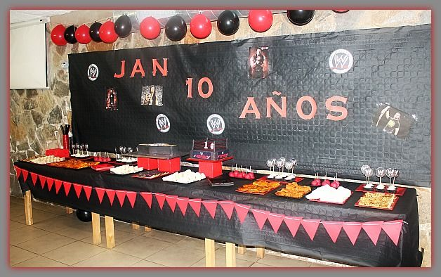 WWE RAW PARTY/CAKE CUMPLEAÑOS, MESA DULCE,  CANDY MEAL