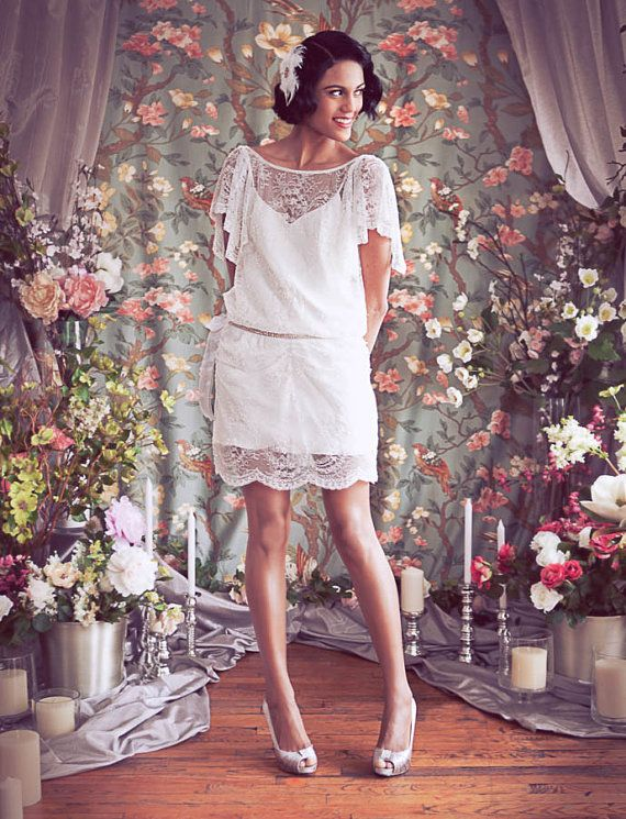 1920s Inspired Great Gatsby Modern Flapper Dress Beaded by rschone
