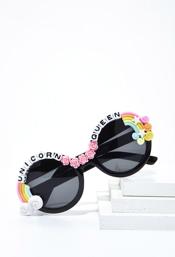 Rad & Refined Unicorn Queen Sunglasses | Forever 21