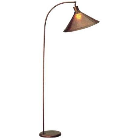 mica shade arc floor lamp - Arc Lamps