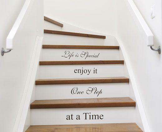 Special veggord - En spesiell dekorativ tekst til hjemmet. Passer perfekt til trappen! Som sett i Vakre hjem & interiør .