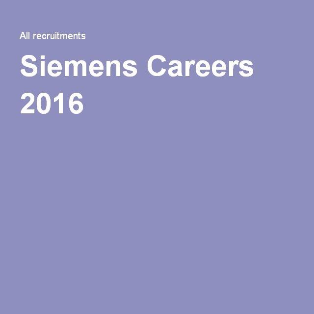Siemens Careers 2016