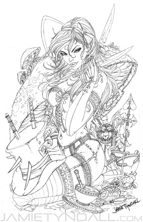 Alice - pencils - Down the Rabbit Hole by jamietyndall.deviantart.com on @deviantART