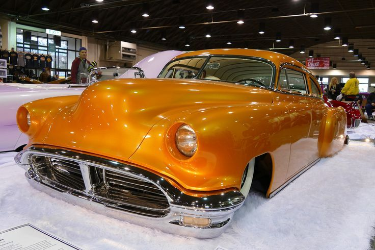 '51 Chevy Fleetline custom.  '55/56 Olds bumper and grill adapted to this car took a lot of work but certainly looks great...