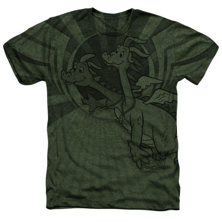 Dragon Tales - Dragon Flight Adult Regular Fit Heather T-Shirt