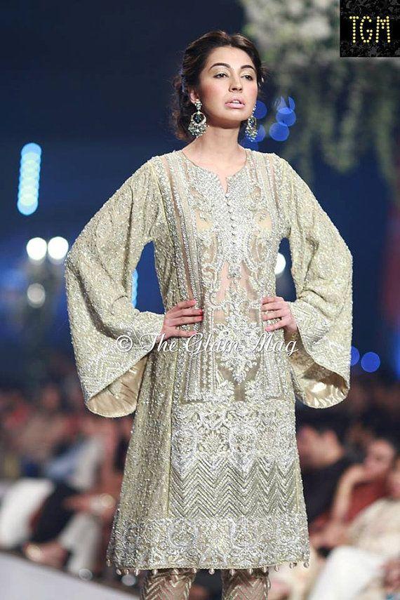 Pakistani Designer Faraz Manan inspired Mint by KaamdaniCouture
