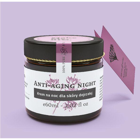 Make Me Bio Anti-aging night Krem na noc dla skóry dojrzałej - Nieprzyzwoicie…