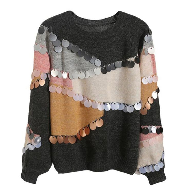 Women Sequined Sweater and Pullovers Long Sleeved Korean Fashion Knit Mohair Sweater Loose Spliced Jumper Sueter Mujer-in Pullovers from Women's Clothing & Accessories on Aliexpress.com | Alibaba Group