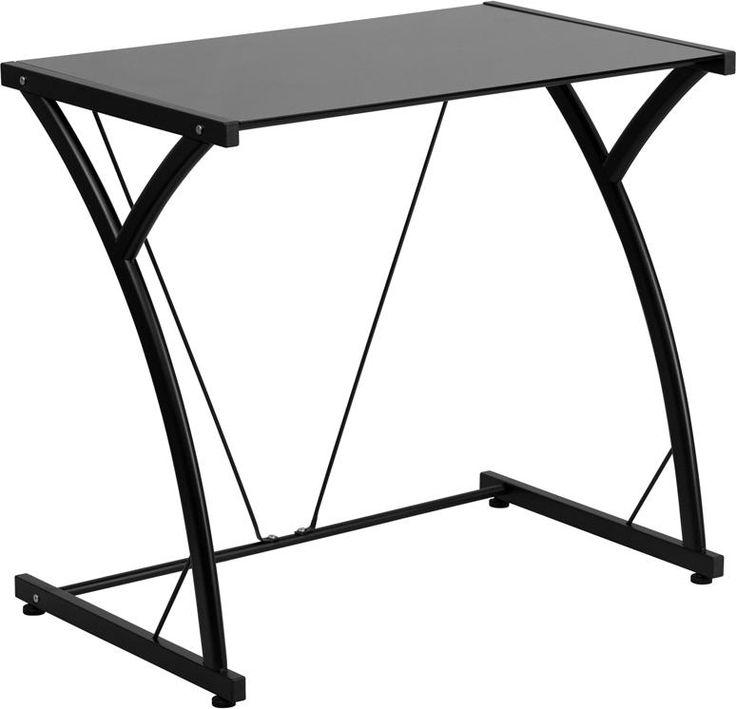 Black Glass Computer Desk WL-02847-FF