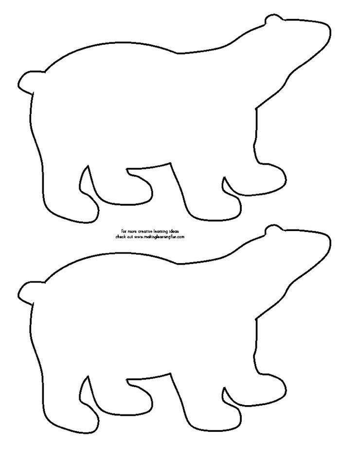 Polar bear template | Winter | Pinterest | Bears, Polar ...