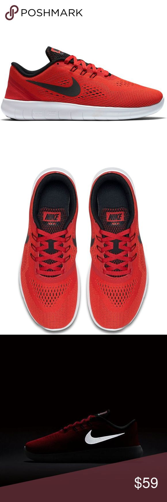Nike free run red black white Womens shoes new Brand new without box. Shoes are a size 6 youth which converts into a women's size 7.5. I have added a size chart for reference. 100% authentic. Ships same day or very next. Nike Shoes Sneakers